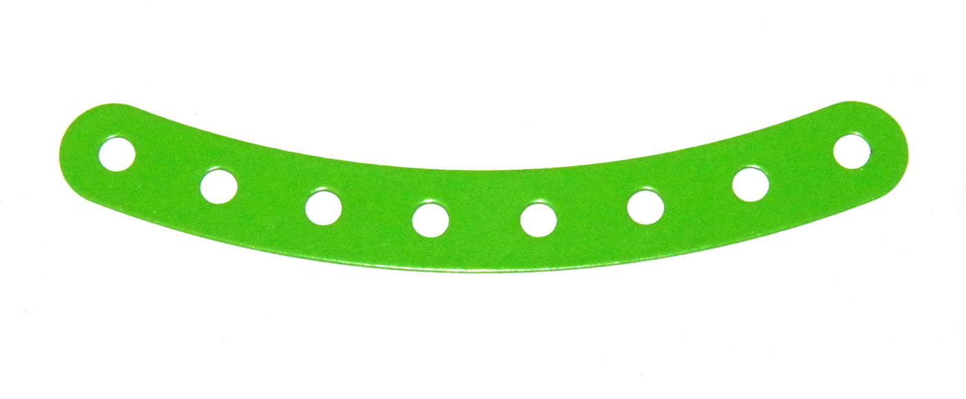 B584 Flexible Curved Strip 8 Hole Fluorescent Green Original