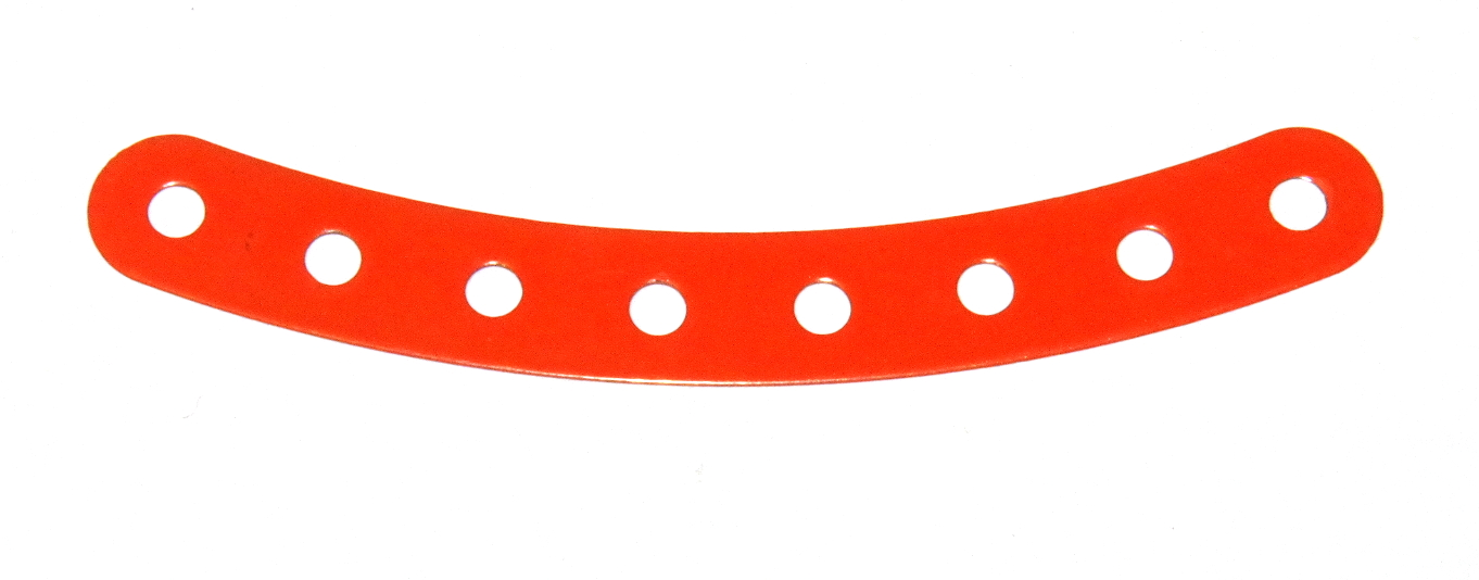 B584 Flexible Curved Strip 8 Hole Orange Original