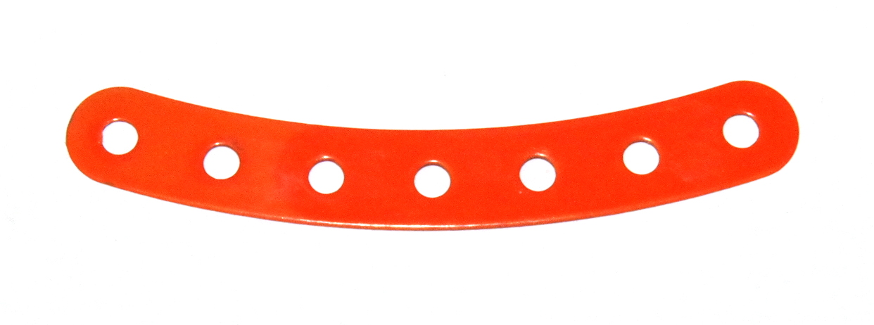 B856 Flexible Curved Strip 7 Hole Orange Original