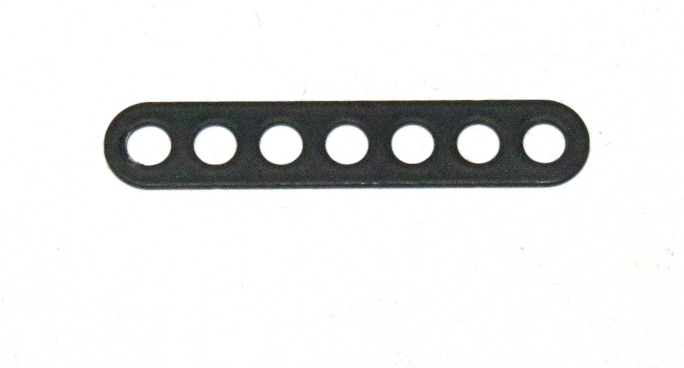C769 Narrow Connector Strip 7 Hole 1 7/8'' Black Original