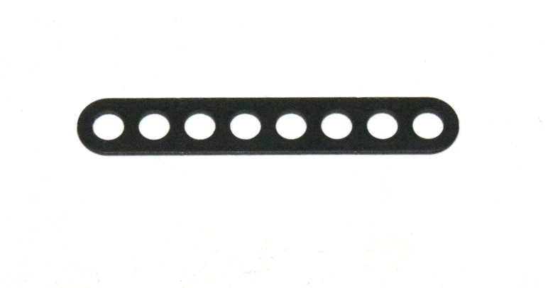 C770 Narrow Connector Strip 8 Hole 2 1/8'' Black Original