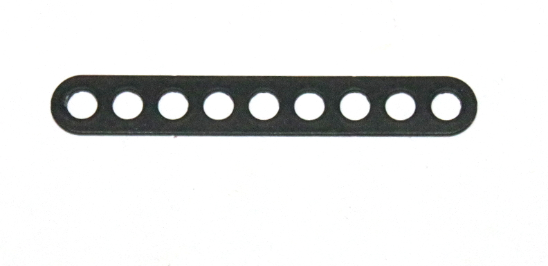 C771 Narrow Connector Strip 9 Hole 2 3/8'' Black Original