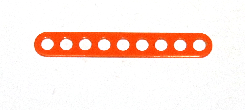 C771 Narrow Connector Strip 9 Hole 2 3/8'' Orange Original