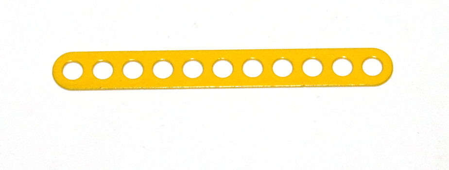 C772 Narrow Connector Strip 11 Hole 2 7/8'' Yellow Original