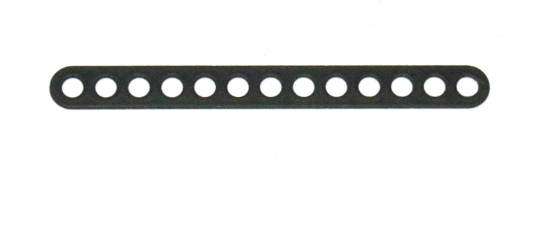 C773 Narrow Connector Strip 13 Hole 3 3/8'' Black Original