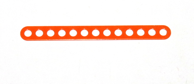 C773 Narrow Connector Strip 13 Hole 3 3/8'' Orange Original
