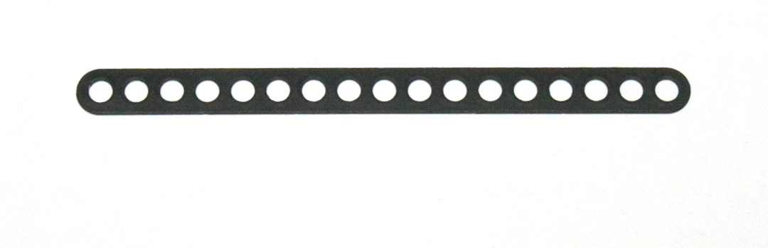 C774 Narrow Connector Strip 17 Hole 4 3/8'' Black Original