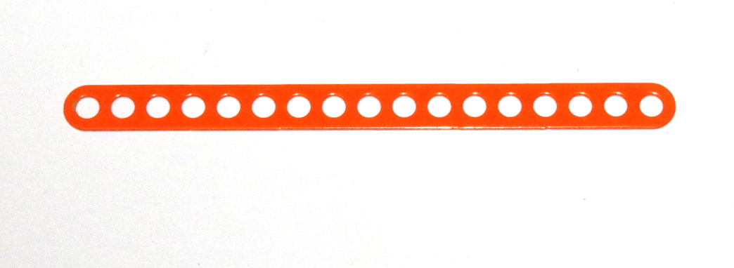 C774 Narrow Connector Strip 17 Hole 4 3/8'' Orange Original