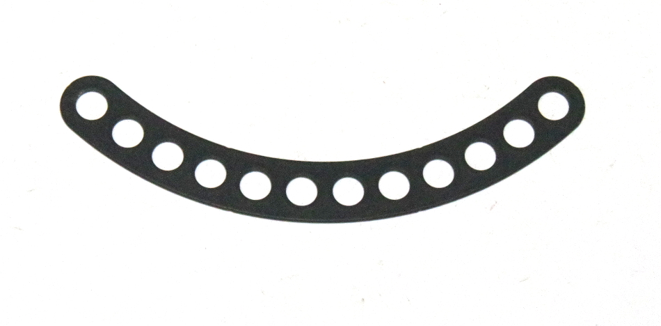 C778 Narrow Curved Strip 12 Hole Black Original