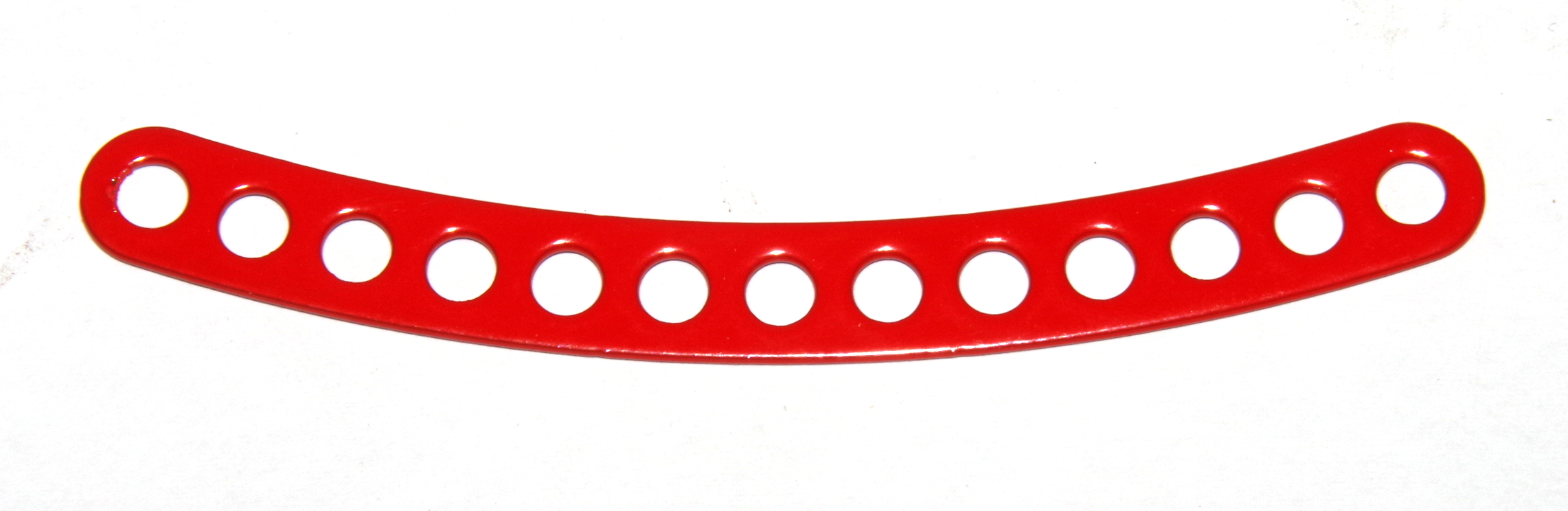 C779 Narrow Curved Strip 13 Hole ¼'' Spaced Red Original