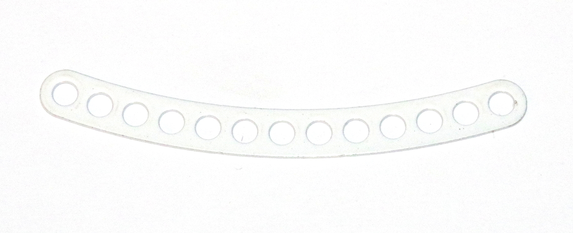 C779 Narrow Curved Strip 13 Hole ¼'' Spaced White Original