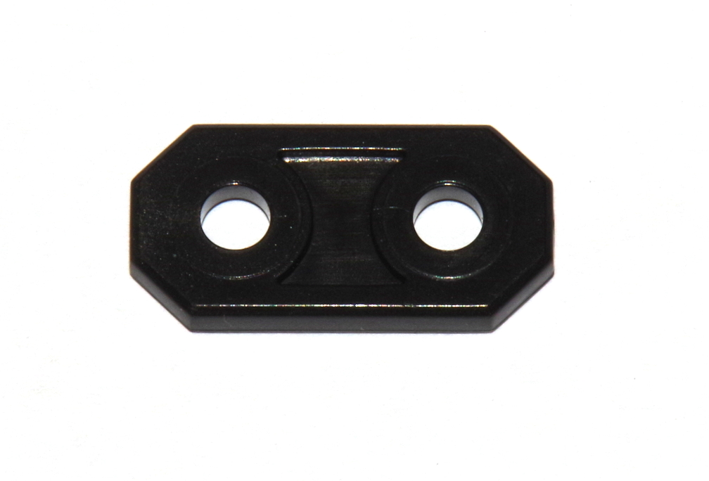 D048 Plastic Strip 2 Hole Black Original